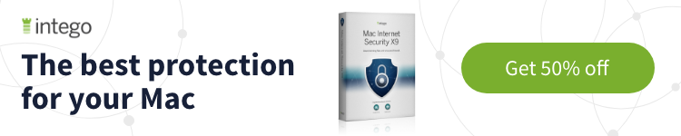 Intego Mac Security X9 50% off